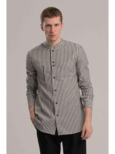 P/COC πουκάμισο P1046 λευκό-μαύρο
