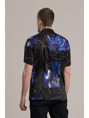 I AM BRIAN πουκάμισο CA1280 μαύρο-μπλε