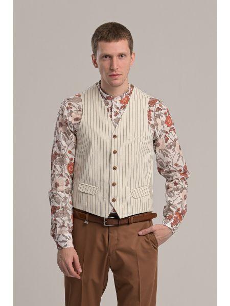 BESILENT MAN vest BSPC0051 off white-grey