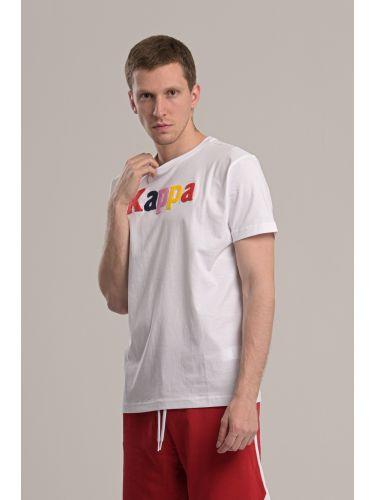 KAPPA t-shirt 304S0N0 910 λευκό
