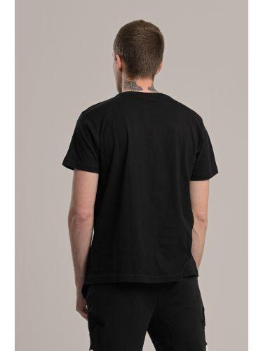 KAPPA t-shirt 304S0N0 005 μαύρο