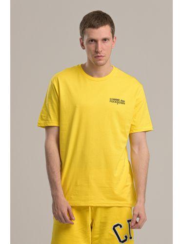 COMME DES FUCKDOWN t-shirt CDFU718 κίτρινο