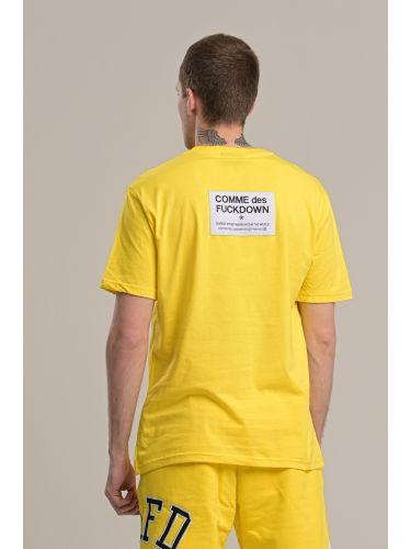 COMME DES FUCKDOWN t-shirt CDFU718 yellow