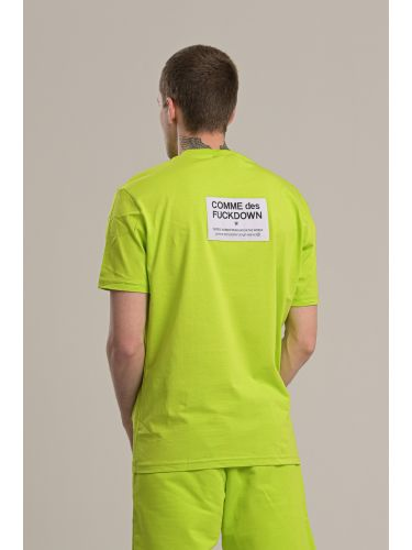 COMME DES FUCKDOWN t-shirt CDFU718 πράσινο