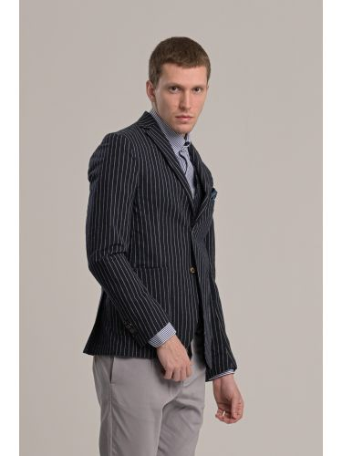 BESILENT MAN blazer BSGI0261 blue-white