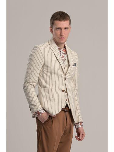 BESILENT MAN blazer BSGI0261 off white-grey