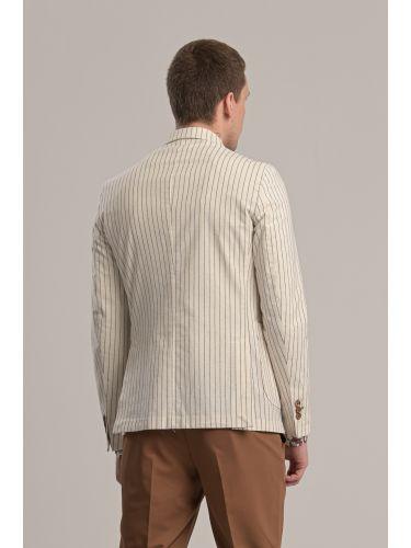 BESILENT MAN σακάκι BSGI0261 off white-γκρι