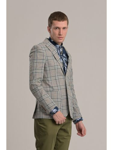 BESILENT MAN blazer BSGI0247 off white-green-brown