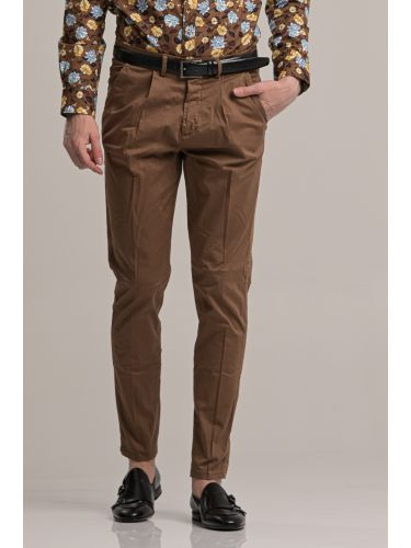 BESILENT MAN pants chino BSPA0389 brown