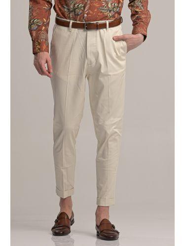 I AM BRIAN παντελόνι chino PA1252 εκρού