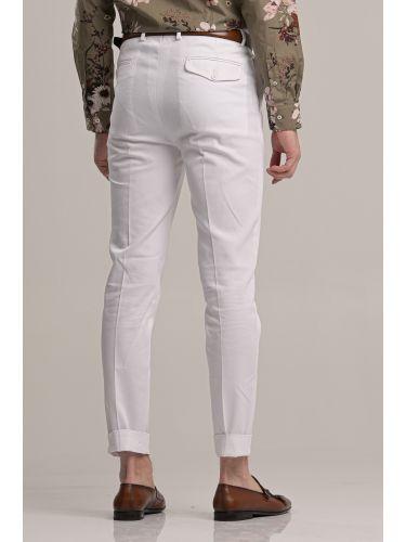 GUARDAROBA παντελόνι chino GPP-220/01 λευκό