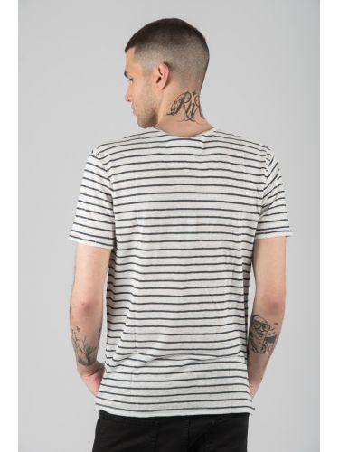 SURPLUS MAN t-shirt SW19265 off white-blue