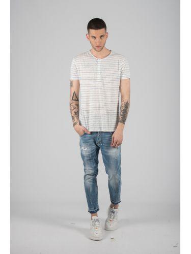 SURPLUS MAN t-shirt SW19265 λευκό-γαλάζιο