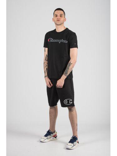 CHAMPION t-shirt 212946-KK001 μαύρο
