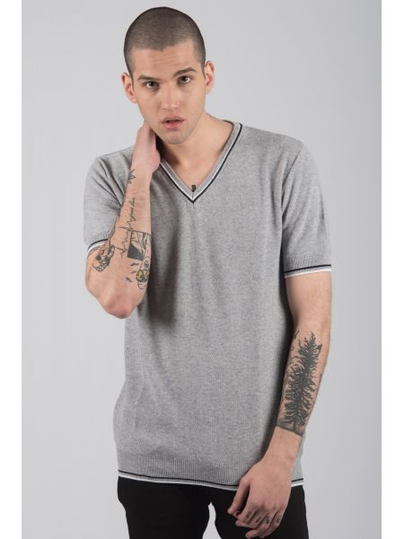 GIANNI LUPO t-shirt νημάτινo BW625 γκρι
