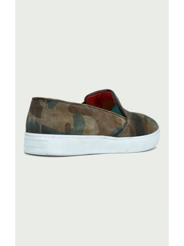 VIA DEI CALZAIUOLI slip-on sneakers MZPAN AMBRA military