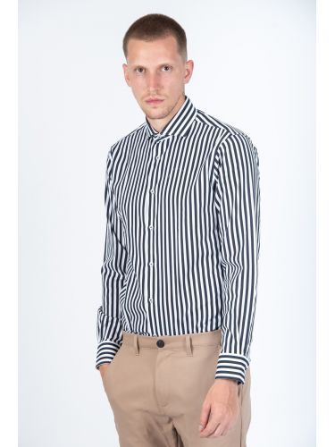 GUARDAROBA πουκάμισο PG-600/2871-02 λευκό-μπλε