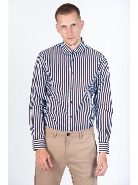 GUARDAROBA πουκάμισο PG-600/2871-04 γαλάζιο-μπορντό