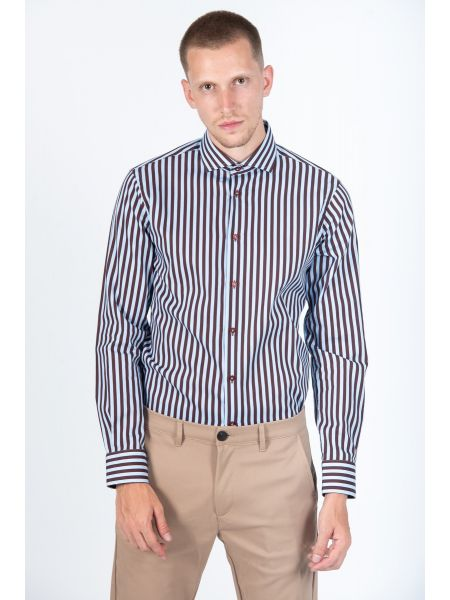GUARDAROBA shirt PG-600/2871-04 blue-burgundy