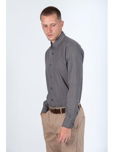 GUARDAROBA πουκάμισο PG-600/2834 καφέ-λευκό