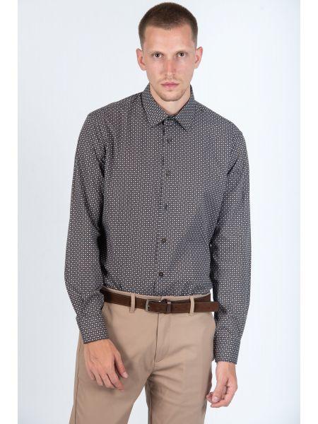 GUARDAROBA shirt PG-600/2834 brown-white