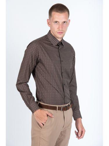 GUARDAROBA πουκάμισο PG-600/2805-3 καφέ-μπορντό