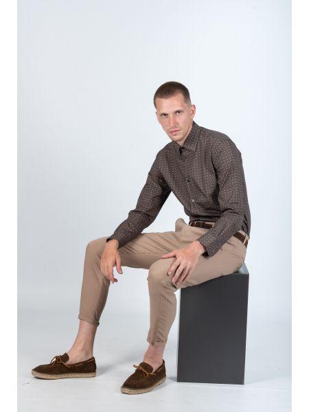 GUARDAROBA shirt PG-600/2805-3 brown-burgundy