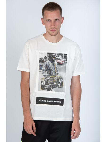 COMME DES FUCKDOWN t-shirt CDFU579 white