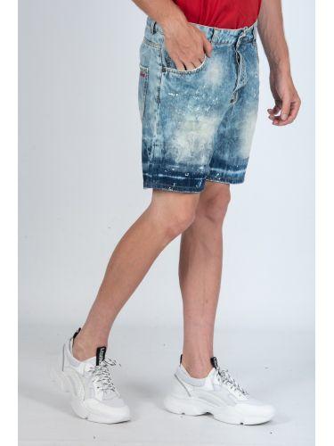 I'M BRIAN jean shorts KEVINL402B blue