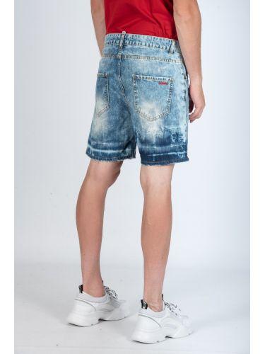 I'M BRIAN jean βερμούδα KEVINL402B μπλε