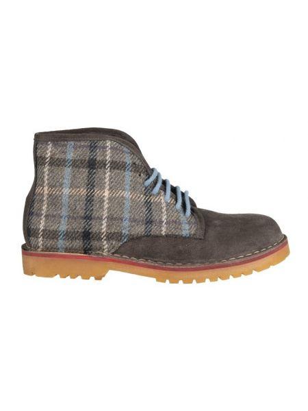 Wally Walker boots Dowel Combi 005 grey-checkered