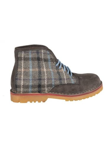 Wally Walker boots Dowel Combi 005 grey-checkered