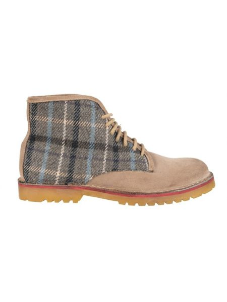 Wally Walker  boots Dowel Combi 005 tabac-checkered