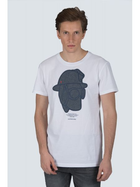 G-STAR RAW t-shirt GRAPHIC 10 R T D14671-B353-110 white
