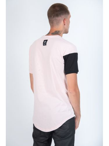 MAGIC BEE t-shirt MB509 ροζ-μαύρο-λευκό