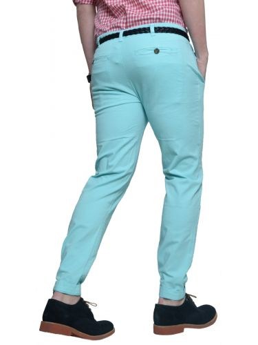 THE PROJECT chino pants H3PA115CO turquoise