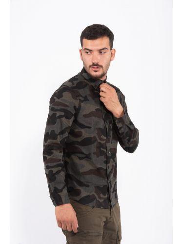 GABBA πουκάμισο P4947 μαύρο