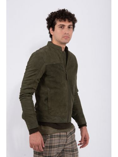 GABBA leather jacket BENTON P4623 khaki