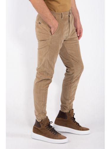 GABBA παντελόνι chino κοτλέ PISA CORD P4594 μπεζ