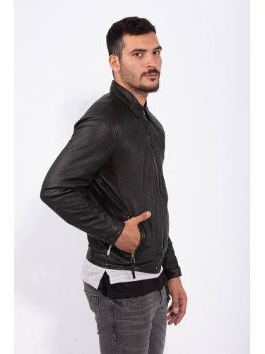 GABBA leather jacket PHIRE CRAN P4905 black