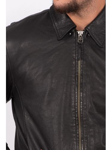 GABBA leather jacket PHIRE CRAN P4905 black