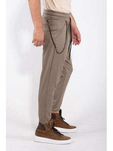 XAGON MAN pants chino ZEUBEA beige-black