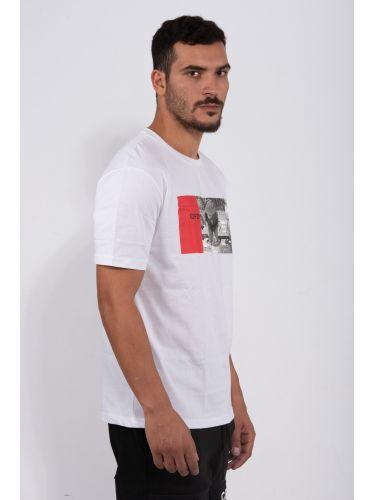 COMME DES FUCKDOWN t-shirt CDFU801 λευκό