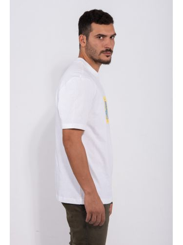 PUMA t-shirt DOWNTOWN GRAPHIC TEE 596369 52 λευκό