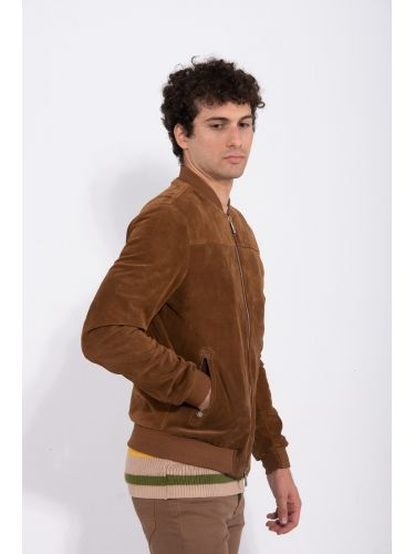 I AM BRIAN leather jacket GIU1344 brown