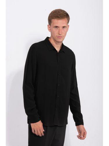 XAGON MAN πουκαμίσα V40705 μαύρη
