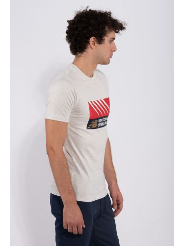 NEW BALANCE t-shirt MT03507 off white