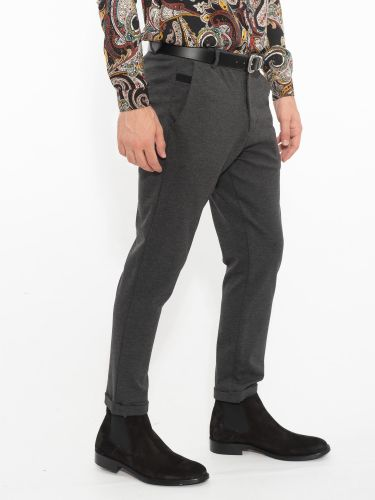 OVER-D chino pants OM233PN grey