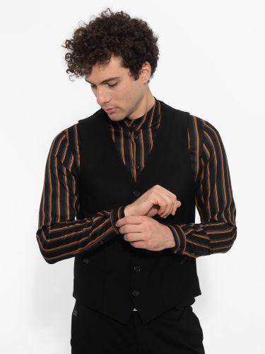 OVER-D vest OM212GL black
