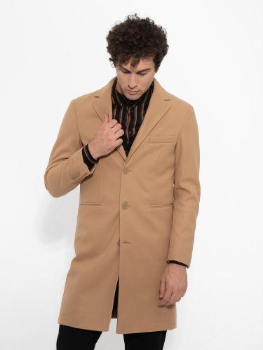 OVER-D παλτό OM215CP μπεζ
